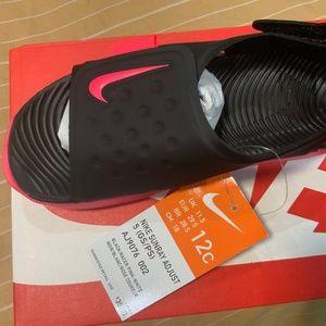 NEW Nike Sunray Adjust 5 Black/Pink Kids Sandals